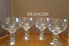Princess House  Heritage Grande Glasses Set Of Four #6275 New!