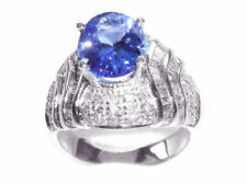 3.14ct Tanzanite & Diamond Ring in 14k White Gold