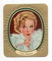 Ida Lupino 1936 Aurelia Sultan Film Star Embossed Cigarette Card #65