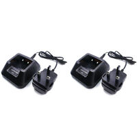 2X CH-5 Desktop Charger BaoFeng UV-5R DM-5R BF-F8+ BF-F8HP UV-5RA Walkie Talkie