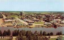 Amos Quebec Canada La Riviere Harricana Birdseye View Vintage Postcard K57242