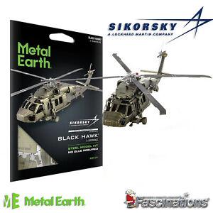New Metal Earth Sikorsky UH-60 BLACK HAWK Army Helicopter 3D DIY Model Kit UK
