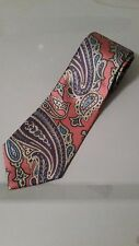 "Men's yonkers pink purple tan Geometric Tie tied 60"" x 3.75"" long"