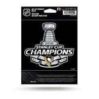 NHL Pittsburgh Penguins 2016 Stanley Cup Champions Die Cut Vinyl Decal