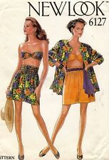1980's VTG New Look Misses' Jacket,Shorts,Bandeau Pattern 6127 Size 8-18 UNCUT