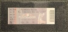 PHILADELPHIA PHILLIES DODGERS 2009 NLCS PHANTOM GAME 7 TICKET--MINT IN HOLDER!!!