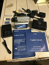 Sony Cyber-shot DSC-T200 8.1MP Digital Camera - Silver *GOOD/TESTED*