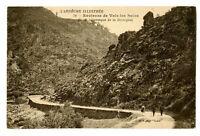 CPA 07 Ardèche envir. de Vals-les-Bains Route pittoresque de la Bezorgues animé