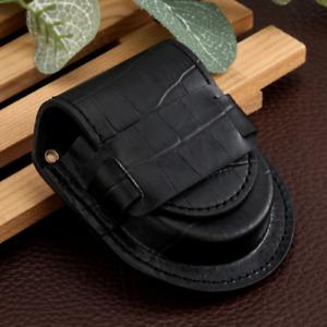 Fashion Pocket Watch Leather Case Pouch Storage Holder Brown Box Bag