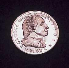 """""""GEORGE WASHINGTON~250th ANNIVERSARY"""" 1 OZ .999 SILVER COMMEMORATIVE ROUND"""