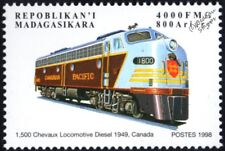 CANADIAN PACIFIC RAILWAY GM EMD Class E8 No.1800 Diesel-Electric Train Stamp