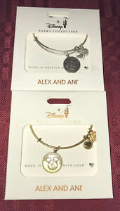 Alex & Ani Disney Vacation Club Charm Bracelet Bangle Gold Or Silver You Pick