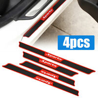 4x Car Door Sill Scuff Plate Cover Panel Step Protector Rubber Strips Universal