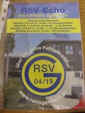 10/04/2016 Ratinger Spielvereinigung Germania v Dusseldorf-West & 13/04/2016 Boc
