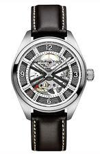 H72515585 Hamilton Khaki Skeleton Swiss Automatic Analog Silver Dial Men's Watch