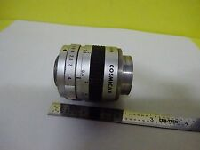 MICROSCOPE PART OPTICAL COSMICAR TV LENS 25 mm CAMERA OPTICS AS IS BIN#P7-03