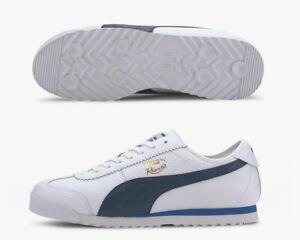 Puma Roma 68 Vintage Leder Low Lace Up Herren Trainers Schuhe Gr. 46 NEU