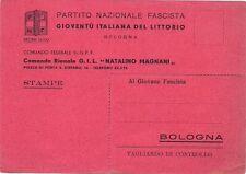 P7626   Bologna, P.N.F.  Gioventù del Littorio Comando Federale G.G.F.F.