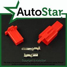 2 Way 2.8mm Mini Connector Kit RED Motorbike Honda Motorcycle Pin Connectors