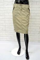 Gonna Alta in Vita DATCH Taglia Size 31 Skirt Woman Cotone Beige Jupe Minigonna