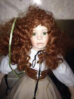 "Paradise Galleries 30"" Porcelain Redhead Girl Doll Linda Murray AEL 2002 Sinead"