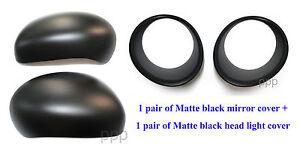 FOR NISSAN JUKE 4DR HATCHBACK 2011-2015 MATTE BLACK HEAD LIGHT SIDE MIRROR COVER