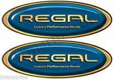 Two Regal Boat Blue Oval Sticker Set