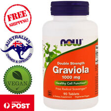 Now Foods, Graviola, Double Strength, 1000 mg , 90 Tablets - Vegan