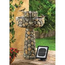 WISHING WELL SOLAR WATER FOUNTAIN GARDEN YARD DECOR~12841