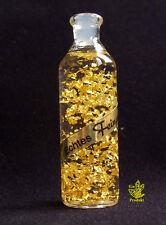 Goldfläschchen mit 24 karat Gold F15 (2,0x6,5 cm) Goldflocken, Reichtumsecke