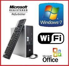 HP AMD FAST DUAL CORE WINDOWS 7 PRO DESKTOP PC 8GB RAM 1TB WiFi COMPUTER OFFICE!