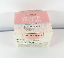Whitening Facial Mask White Collagen Bright&Firm Smooth Beauty Buffet Scentio