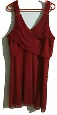 Ladies Women Stunning Going Out Red Dress UK Size 26 By Next