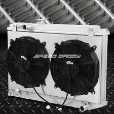 For 86 92 Toyota Supra A70 3 Row Aluminum Core Racing Radiator12v Fan Shroud
