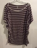 a.n.a the new approach Womens XL Brown White Top Blouse