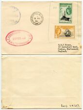 FALKLANDS FID 1962 HMS PROTECTOR SHIPS OFFICE 1963 DECEPTION Is + RECEIVED 1965