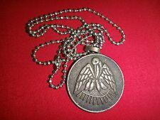 Compagnies D'Assurances LE SECOURS Metal Badge + Ball Chain