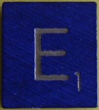 Scrabble Tiles Replacement Letter E Blue Wooden Craft Game Part Piece 50th Ann.