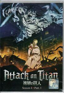 Anime DVD Attack On Titan The Final Season 4 Part 1 (1-16 End) ENGLISH AUDIO Set