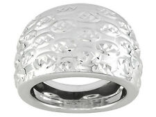 Mille Riflessi Sterling Silver Dome Ring Made In Italy size 6