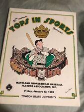 TOPS in SPORTS BANQUET 1989 Baltimore Maryland Baseball Program Ripken Canseco