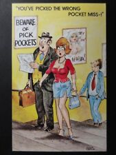 Chas: Bamforth & Co YOU'VE PICKED THE WRONG POCKET MISS!!! Pick Pocket Theme