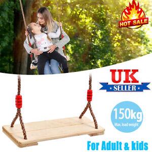 Wooden Garden Swing Seat Outdoor Pine Wood Swing Chair Adults & Kids Adults UK