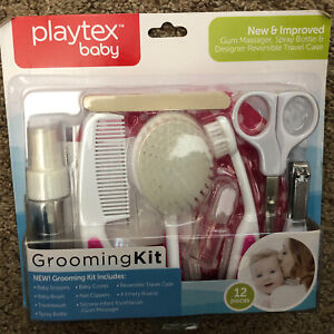 """Playtex Baby 12-Piece Grooming Kit Clippers Brush Comb, Scissors- """"NEW"""""""