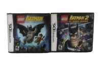 Nintendo DS Game Lot Batman (The Video Game) And Batman 2 (DC Super Heroes)