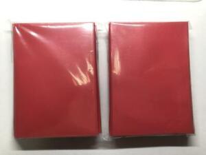Lenayuyu 100pcs Red Deck Protector Standard MTG Card Sleeves 66x91mm Glossy