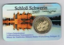 GERMANY DUITSLAND COINCARD 2007 2 EURO SCHWERIN  letter F