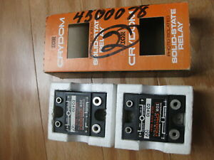 2pc Crydom D2410 Solid State Relay 240 VAC 3-32 VDC Logic