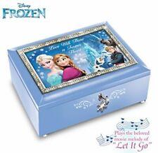 Disney Frozen Heirloom Music Box (Blue) Bradford Exchange Musicbox