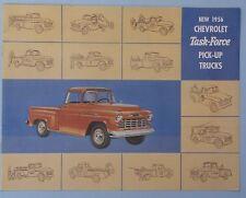 1956 56 Chevy Chevrolet pickup truck sales brochure